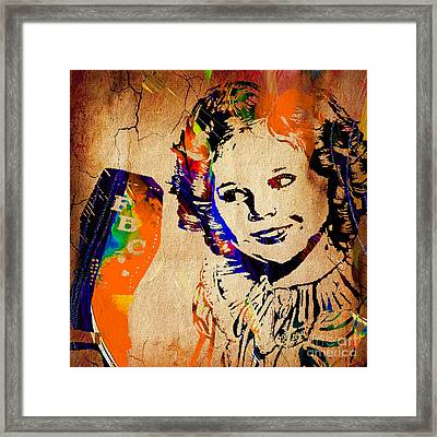 Shirley Temple Collection Framed Print by Marvin Blaine