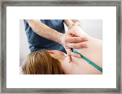 Shoulder Physiotherapy Framed Print