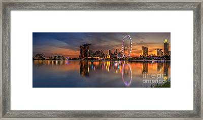 Singapore City Framed Print