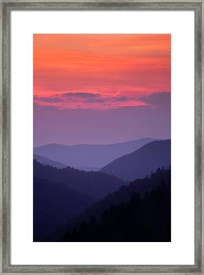 Smoky Mountain Sunset Framed Print by Andrew Soundarajan