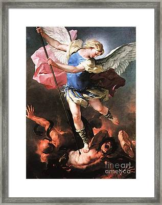 St. Michael Framed Print by Archangelus Gallery