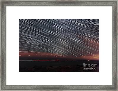 Star Trails Framed Print by Laurent Laveder