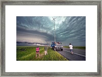 Storm Chasing, Nebraska, Usa Framed Print