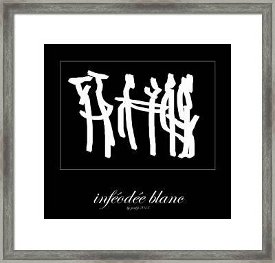 Subservient White Framed Print by Sir Josef - Social Critic -  Maha Art