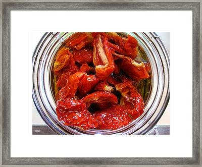 Sun Dried Tomatoes Framed Print