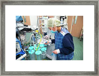 Surgery Preparations Framed Print by Mark Thomas