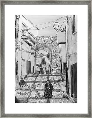 Framed Print featuring the painting Sutera Rabato Antico by Loredana Messina