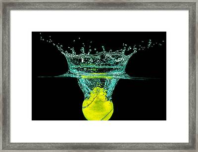 Tennis Ball Framed Print by Peter Lakomy