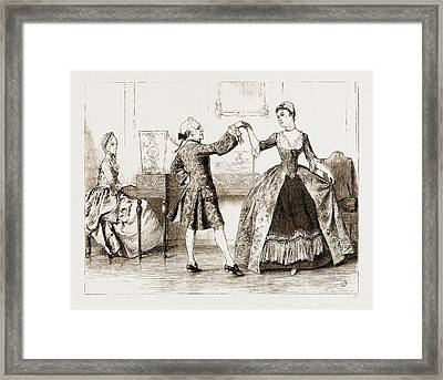 The Chaplain Of The Fleet, Drawn By Charles Green Framed Print by Litz Collection