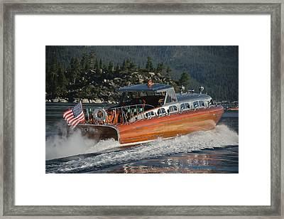 Thunderbird Lake Tahoe Framed Print by Steven Lapkin