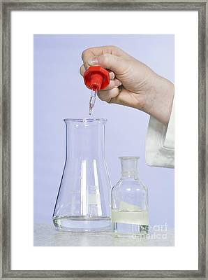 Titration Experiment Framed Print by Martyn F. Chillmaid