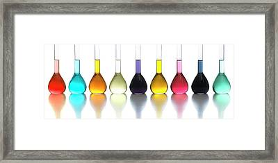 Transition Element Salts In Solution Framed Print
