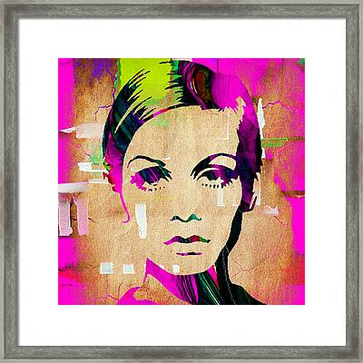 Twiggy Collection Framed Print by Marvin Blaine