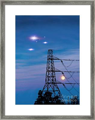 Ufo Sighting Framed Print
