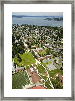 University Of Puget Sound U.p.s., Tacoma Framed Print by Andrew Buchanan/SLP