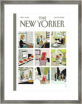 New Yorker February 25th, 2008 Framed Print