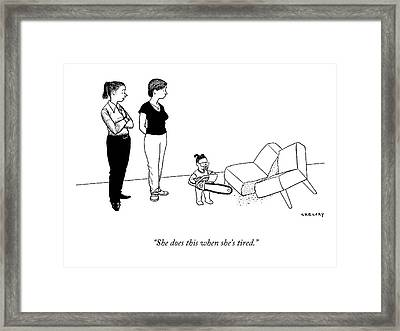 She Does This When She's Tired Framed Print by Alex Gregory