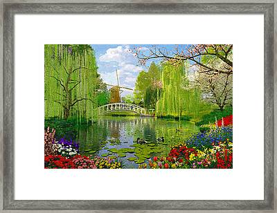 Windmill Lake Framed Print by Dominic Davison
