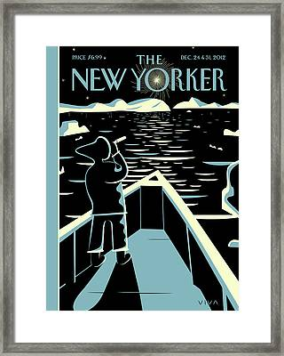 New Yorker December 24th, 2012 Framed Print by Frank Viva