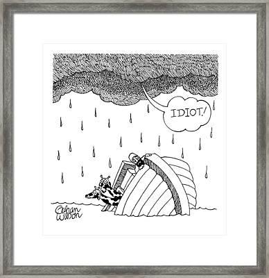 Sinking Arc Framed Print