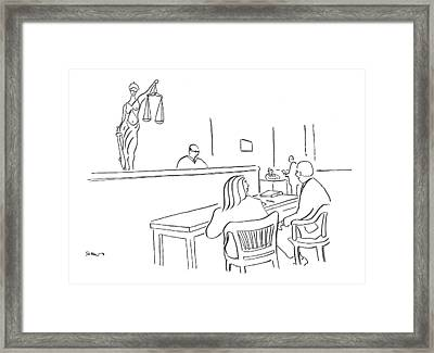 I Like To Think That Justice Not Only Is Blind Framed Print