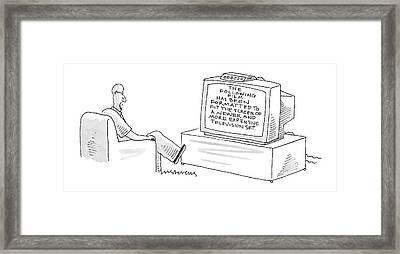 New Yorker December 5th, 2005 Framed Print by Mick Stevens