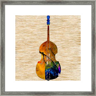 Upright Bass Framed Print by Marvin Blaine