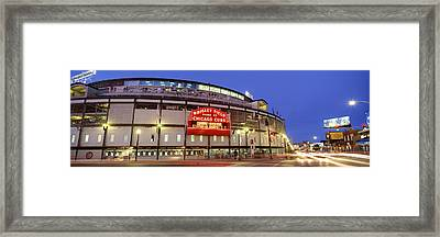 Usa, Illinois, Chicago, Cubs, Baseball Framed Print