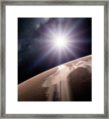 Valles Marineris Framed Print by Detlev Van Ravenswaay