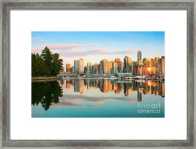 Vancouver Sunset Framed Print by JR Photography