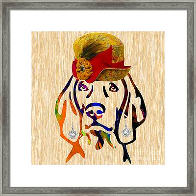 Weimaraner Collection Framed Print by Marvin Blaine