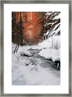 16x20 Canvas - West Fork Snow Framed Print by Tam Ryan