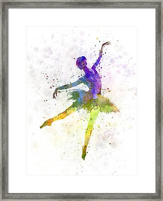 Woman Ballerina Ballet Dancer Dancing  Framed Print by Pablo Romero