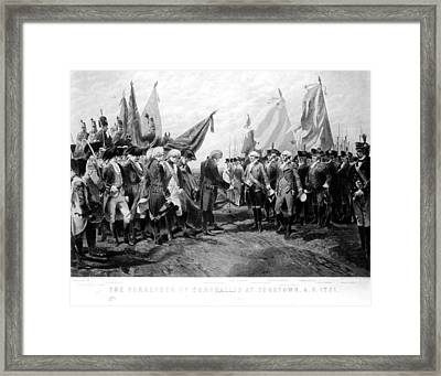 Yorktown: Surrender, 1781 Framed Print by Granger