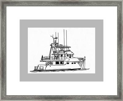60 Foot Nordhav Grand Yacht Framed Print