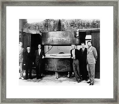 60-inch Cyclotron And Nuclear Physicists Framed Print by Us Department Of Energy