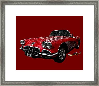 60 Red Corvette Framed Print