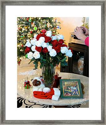 60 Roses 60 Years Framed Print by Phyllis Kaltenbach