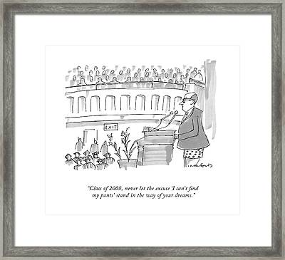 Class Of 2008 Framed Print by Michael Crawford