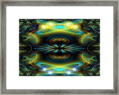 609 - Lucid Infinity .... Framed Print by Irmgard Schoendorf Welch