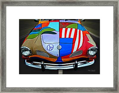 60s Wild Ride Framed Print by Mary Machare