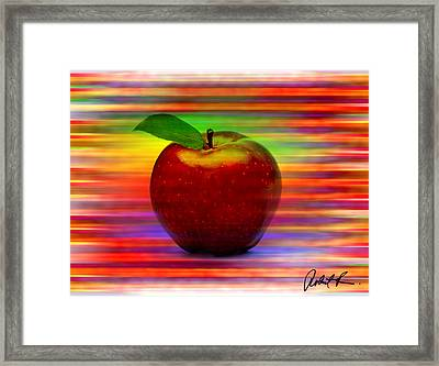 60x45 Print Or Canvas Wrap The Apple By Robert R Signed Prints Framed Print