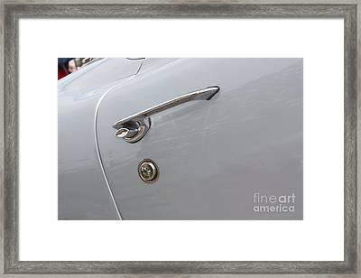 61 Corvette-grey-door Handle-9268 Framed Print by Gary Gingrich Galleries