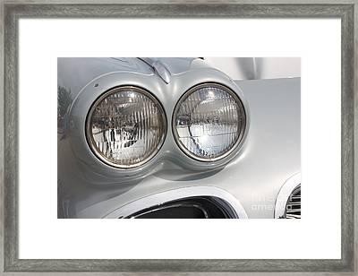 61 Corvette-grey-headlights-9235 Framed Print by Gary Gingrich Galleries