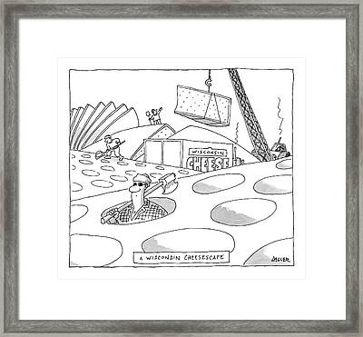 A Wisconsin Cheesescape Framed Print