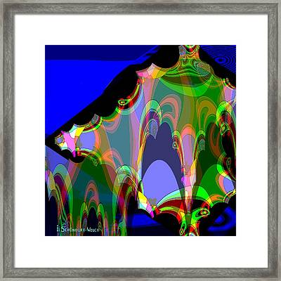 610 -   Blue Cave   Framed Print by Irmgard Schoendorf Welch