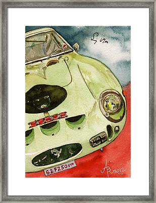 62 Ferrari 250 Gto Signed By Sir Stirling Moss Framed Print