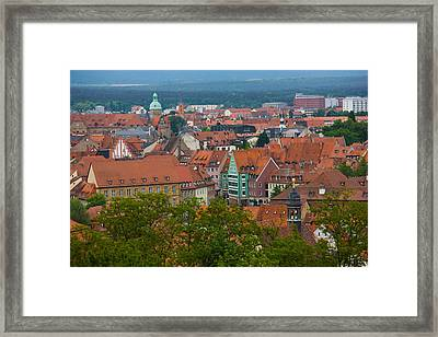 High Angle View Of Buildings In A City Framed Print by Panoramic Images