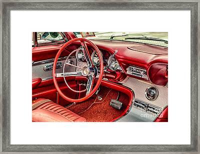 62 Thunderbird Interior Framed Print