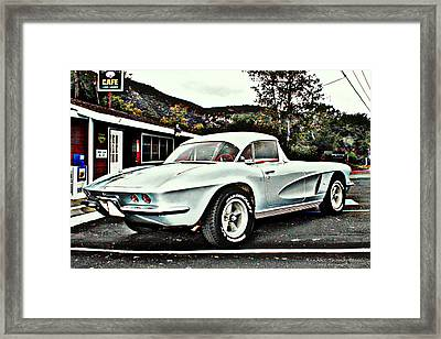 62 Vette Framed Print by Randall Thomas Stone